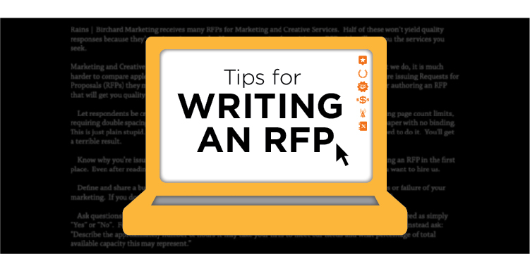 tips for writing an rfp for marketing  u0026 creative services