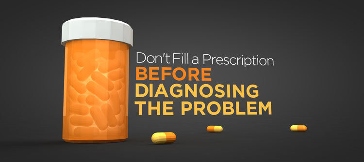 Don't prescribe before you diagnose.